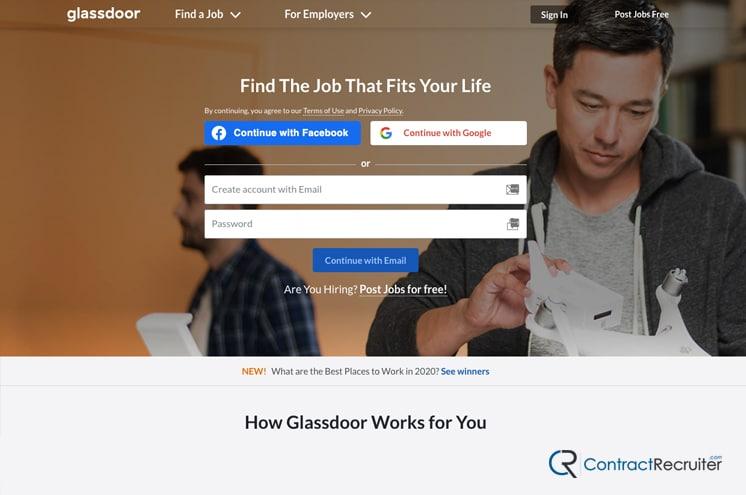 Glassdoor Homepage