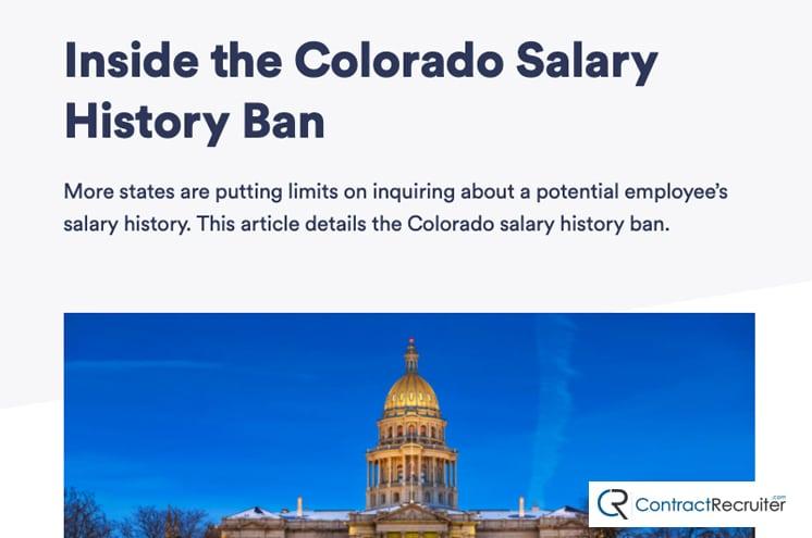 Colorado Salary History Ban