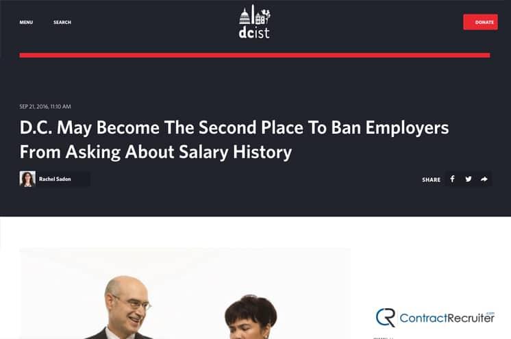 D.C. Banning Salary History