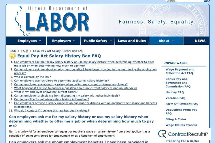 Illinois Salary History Ban