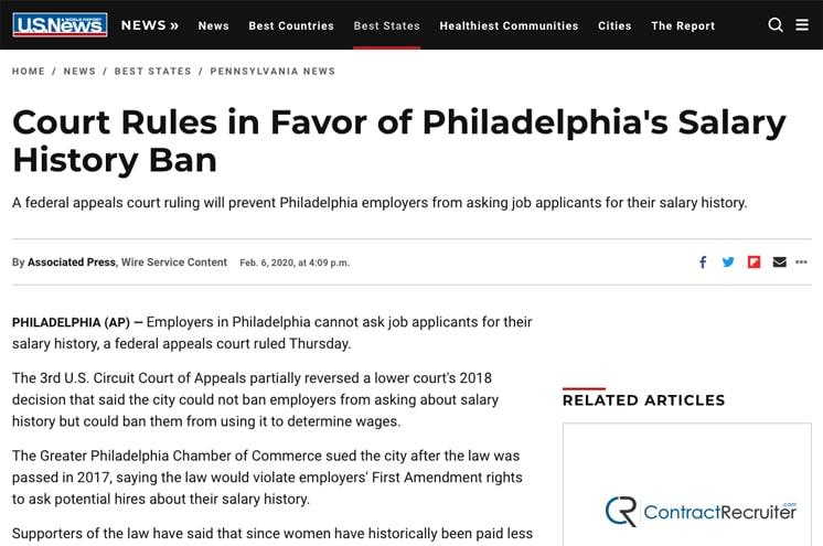 Philadelphia Salary History Ban