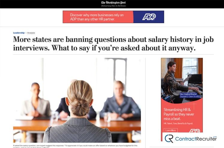 Salary History News Article