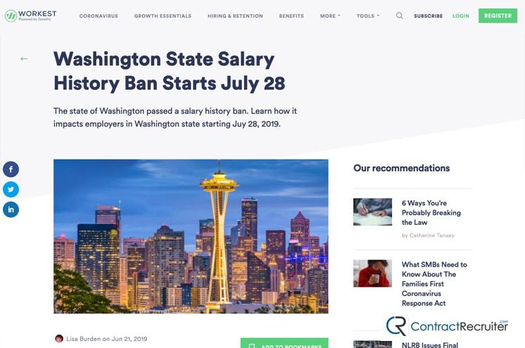 Washington Salary History