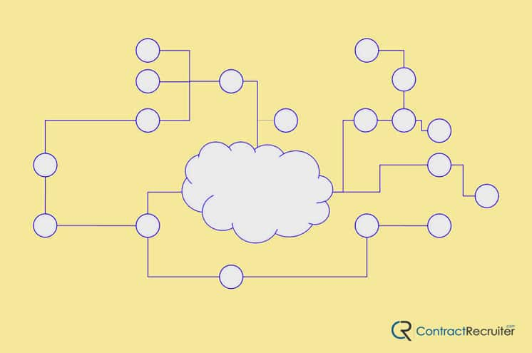 Cloud Recruiting Illustration