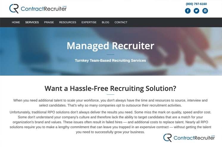 Hiring a Managed Recruiter