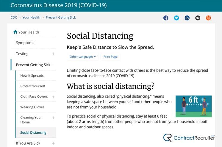 Social Distancing CDC