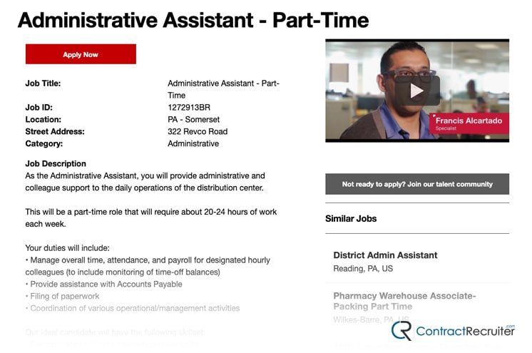 CVS Job Listing