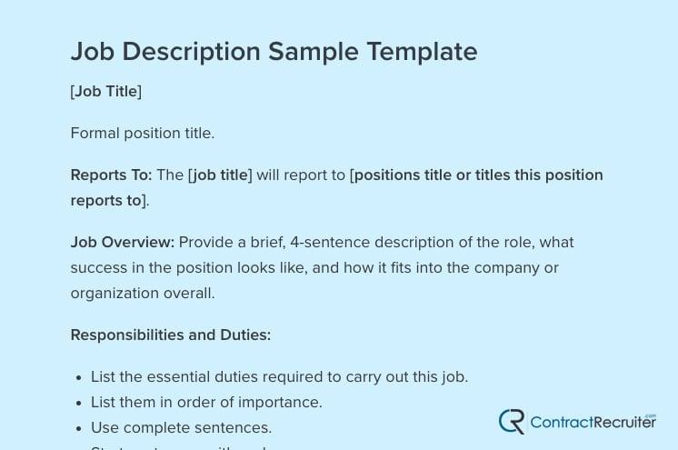 Job Template 1
