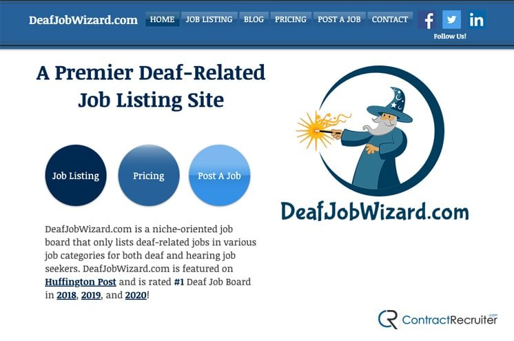 Example Job Board for Deaf People