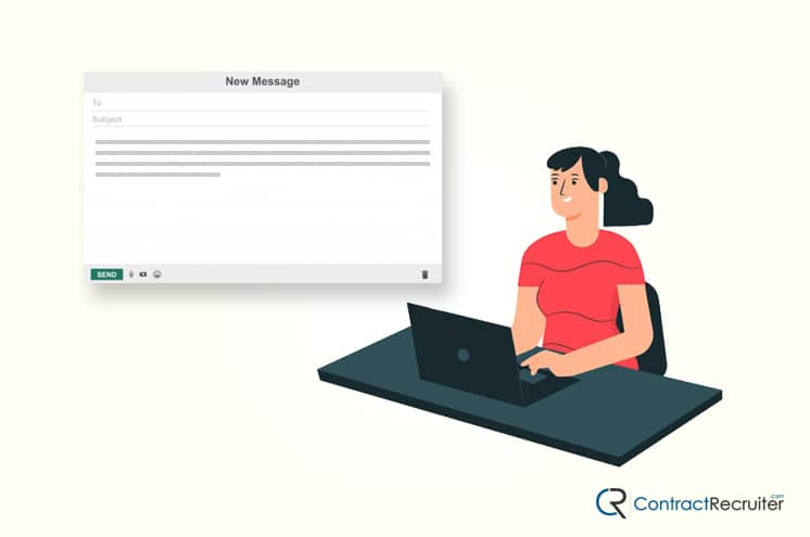 Writing an Email Illustration