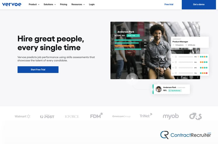 Vervoe Homepage