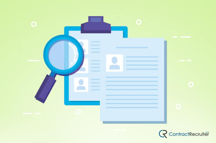 Reference Background Check Illustration