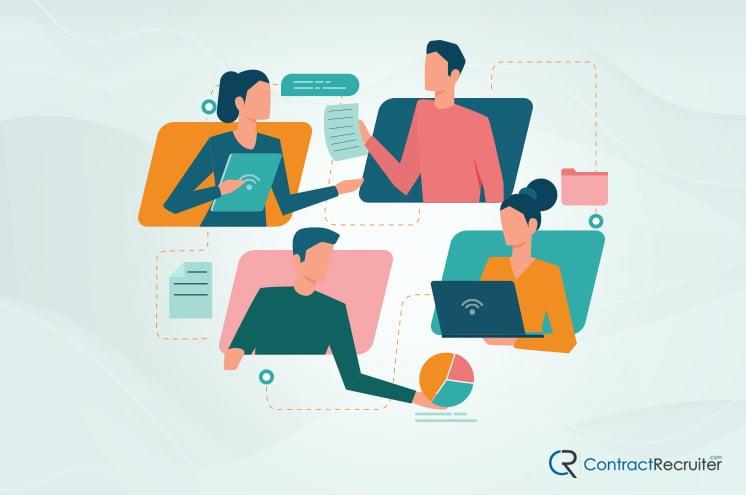 Employees Communicating
